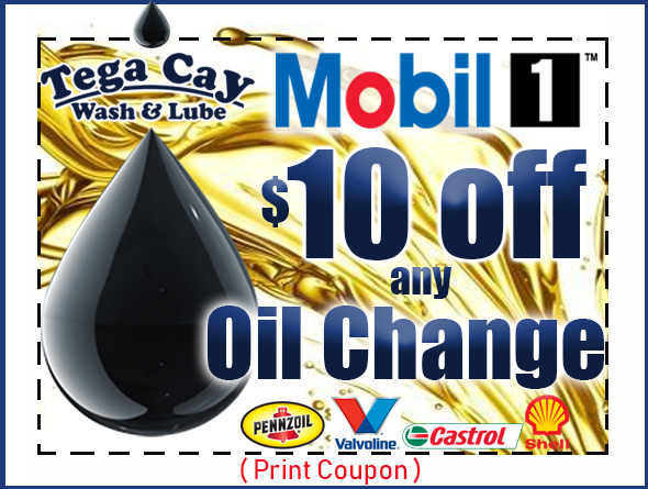 $10-Mobil 1-off-oil-change-coupon-discount-synthetic-tega-cay-wash-&-lube-fort-mill-lake-wylie-steele-creek