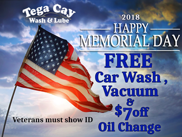 Americn-Flag-memorial-day-special-oil-Change-lube-free-carwash-vacuum-near-fort-mill-Tega-Cay-wash-&-Lube