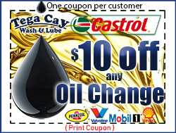 Car-Oil-Change-Lube-coupon-10-off-discount-castrol-gtx-Tega-Cay-Wash-&-Lube-South-Carolina-Fort Mill