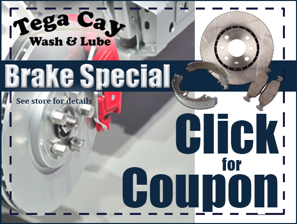 Click-for-brake-replacement-coupon-Pennzoil-Tega Cay-wash-lube-Brakes-pads-rotors-disc-drum-near me-Fort-Mill-Lake-Wylie
