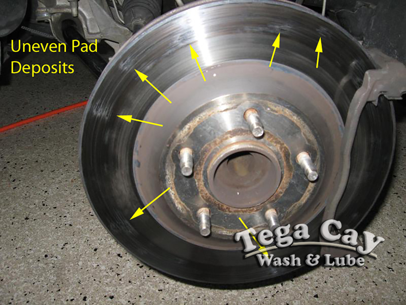 uneven-rotor-car-brake-pads-rotors-tega-cay-wash-lube-near-fort-mill-south-carolina-lake-wylie